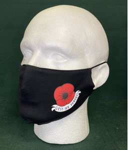 Poppy, Lest We Forget (Face Mask)