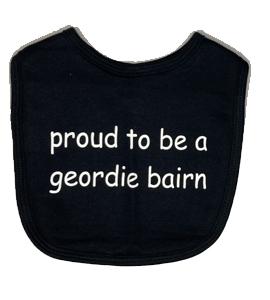 Proud To Be A Geordie Bairn, Bib (Babywear)