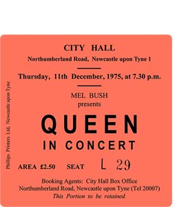 Queen City Hall Ticket (Coaster)