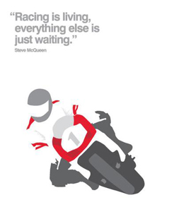 Racing (Greetings Card)