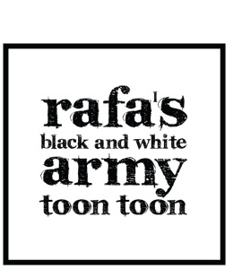 Rafa's Black and White Army (Greeting Card)