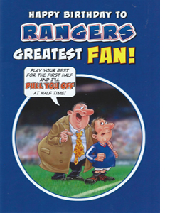 Rangers Greatest Fan 2 (Greeting Card)