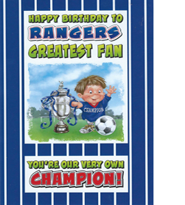 Rangers Greatest Fan 4 (Greeting Card)