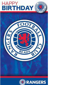 Rangers Happy Birthday Crest Greeting Card