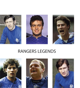 Rangers Legends (Greetings Card)