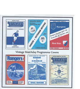 Rangers Vintage Programme (Greeting Card)