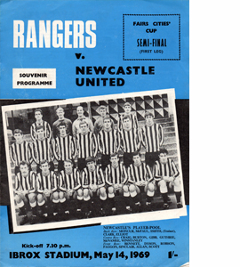Rangers v Newcastle United 68/69 Fairs Cup (Programme)