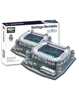 Real Madrid 3D Football Stadium Puzzle