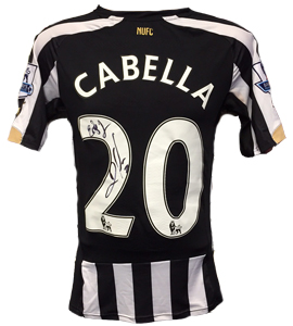 Remy Cabella Newcastle United Home Shirt 2014/15 (Match-Worn)