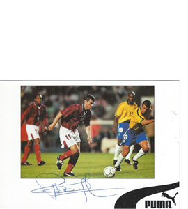 Rob Lee England Sponsor Card (Signed)