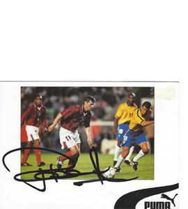 Rob Lee England Sponsor Card (Signed)
