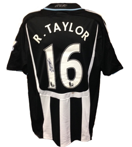 Ryan Taylor's Newcastle United Home Shirt 2008/09 (Match-Worn)