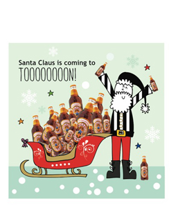 Santa Claus is Coming to Toon (Greetings Card)