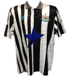 Scott Sellers Newcastle United Shirt 1992/93 (Match-Worn)