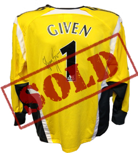 Shay Given Newcastle United Goalkeepers Shirt (Signed)
