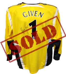 Shay Given Newcastle United Goalkeepers Shirt (Signed)