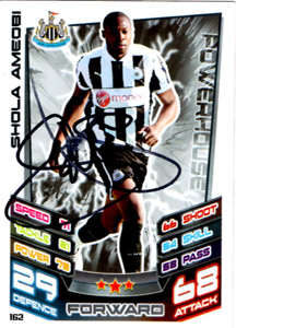 Shola Ameobi Newcastle United Match Attax Trade Card (Signed)