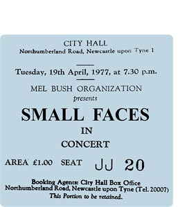 Small Faces City Hall Ticket (Coaster)