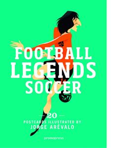 Soccer Legends: 20 Postcard Book