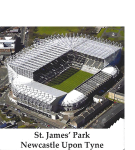 St James Park Newcastle Upon Tyne (Ceramic Coaster)