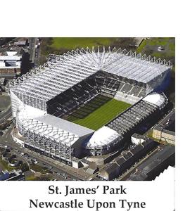 St James Park Newcastle Upon Tyne (Ceramic Coaster)