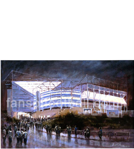 'St James Park' Newcastle United by Dick Gilhespy (Print)