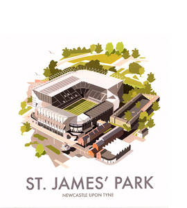 St James' Park (Greeting Card)