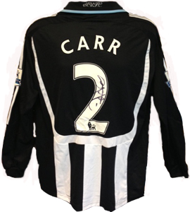 Stephen Carr Newcastle United Shirt 2007/08 (Match-Worn)