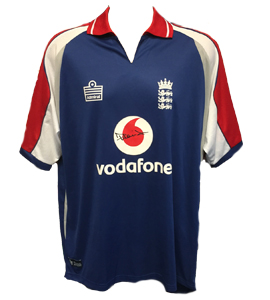 Steve Harmison England Cricket Shirt Signed (Match-Worn)