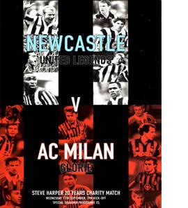 Steve Harper Testmonial Newcastle United v AC Milan (Programme)