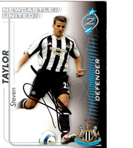 Steven Taylor Newcastle United Shoot Out Trade Card (Signed)
