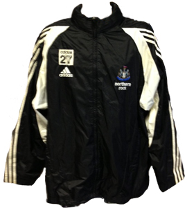 Steven Taylor Newcastle United Training Coat (Signed)