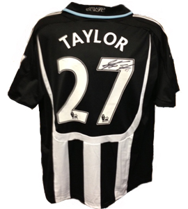 Steven Taylor Newcastle United Shirt & Shorts (Match Worn)