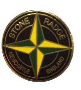 Stone Radge Newcastle England Badge