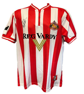 Sunderland 2000 Home Shirt Signed by Peter Reid ( Signed)