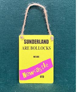 Sunderland Are Boll**cks (Metal Dangle)
