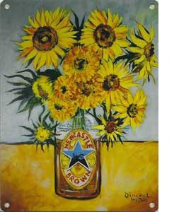 Sunflowers (Metal Sign)