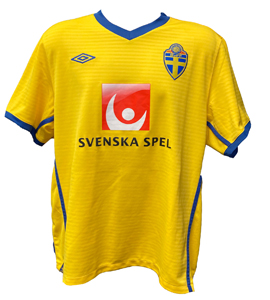 Sweden 2010/11 Player Issue Home Shirt