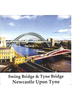 Swing Bridge & Tyne Bridge Newcastle Upon Tyne (Ceramic Coaster)