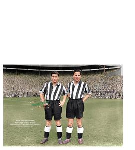 Ted & George Robledo Newcastle United & Chile 1951 (Print)