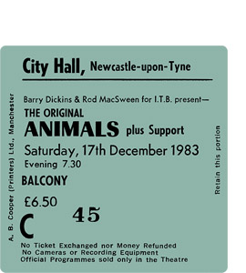The Animals City Hall Ticket (Coaster)