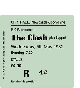 The Clash City Hall Ticket (Coaster)