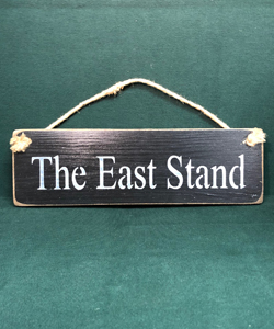 The East Stand Newcastle United (Wooden Sign)