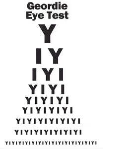 The Geordie Eye Test (Postcard)