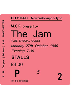 The Jam City Hall Ticket (Coaster)