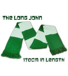The Long John Bar Scarf Green & White