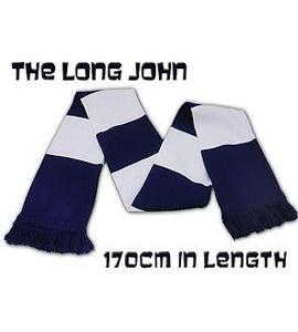 The Long John Bar Scarf Navy & White