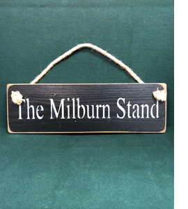 The Milburn Stand Newcastle United (Wooden Sign)