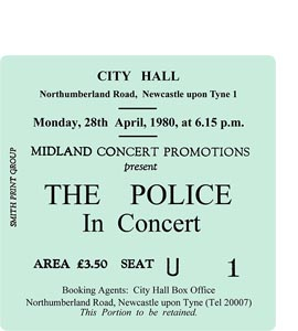 The Police City Hall Ticket (Coaster)
