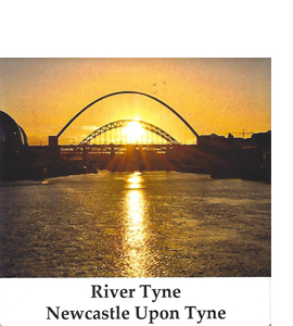 The River Tyne Newcastle Upon Tyne (Ceramic Coaster)